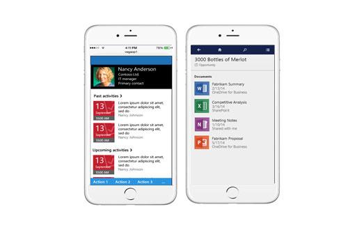 Microsoft Dynamics CRM ventes sur mobile
